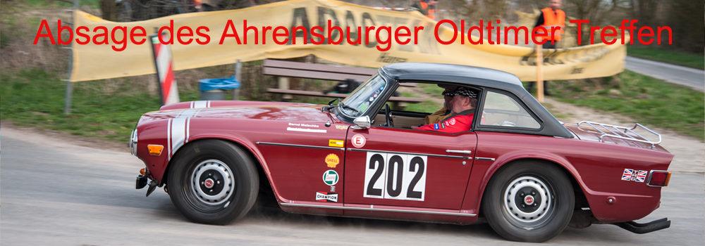 Absage des 18. ADAC Ahrensburger Oldtimer Treffens